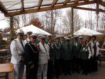 Der Vorstand, die Offiziere und die geehrten Mitglieder des Bürgerschützenvereins Nordkirchen